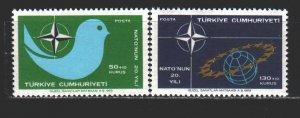 Turkey. 1969. 2120-21. NATO. MNH.