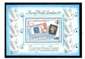 Seychelles 708 MNH 1990 Stamp World London 1990 S/S