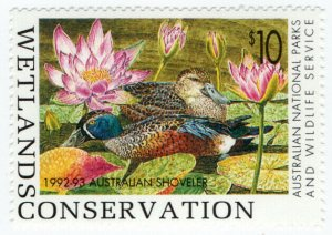 (I.B) Australia Cinderella : Wetlands Conservation $10 (National Park)