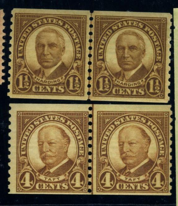 686-7 MINT L/P's F-VF OG NH Cat$33.50