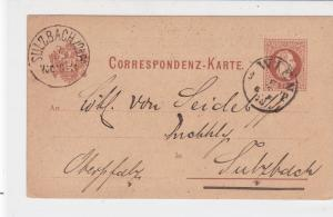 Austria 1878 Wien Cancel to Sulzbach Stamp Card ref R 19563