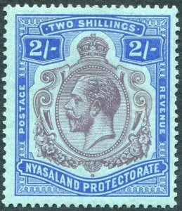NYASALAND-1926 2/- Purple & Blue/Pale Blue Sg 109 MOUNTED MINT V48968