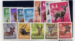 Malawi 1971 SG 375 - 387 - Animals definitive set very fine UM.