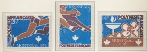 French Polynesia Stamps Scott #C134 To C136, Mint Never Hinged - Free U.S. Sh...