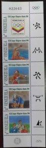 L) 1996 VENEZUELA, XXIII ATLANTA OLYMPIC GAMES, SWIMMING, CYCLING, BOXING, MNH