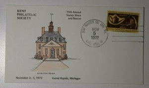 Kengt Philatelic Society Conv Sta Grand Rapids MI 1972 Governors Palace Cachet