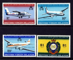 VIRGIN ISLANDS QE II 1968 Complete Beef Island Airport Set SG 228 to SG 231 MNH