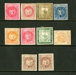 Italy Stamps Early Municipal Locals Lot of 10 Different