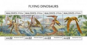 Maldives - 2018 Flying Dinosaurs - 4 Stamp Sheet - MLD181010a