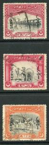 Bahawalpur SGO14/6 1945 Set of 3 with Opt Type O9 Fine Used