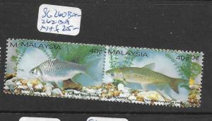 MALAYSIA   (PP2605B)  FISH SG 260BA-262BA             MNH