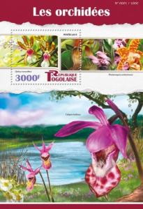 TOGO 2015 SHEET ORCHIDS FLOWERS tg15516b