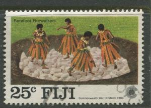Fiji - Scott 486 - General Issue - 1983 - FU - Single 25c Stamp