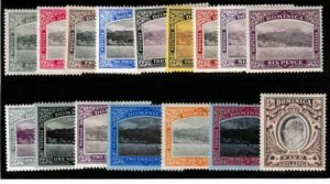 Dominica 1907-1920 SC 35-49 MLH Set