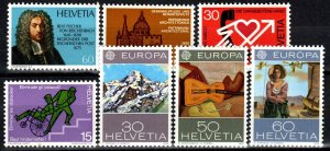 Switzerland #603-9  MNH CV $4.70 (X282)