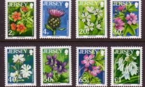 Jersey Sc 1170-7 2005 Flowers stamps NH