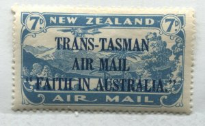 New Zealand 1934 7d light blue overprinted Airmail mint o.g. hinged