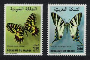 Morocco Butterflies and Moths 2v issue 1981 SG#583-584