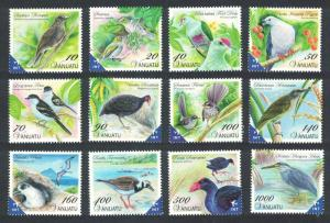 Vanuatu Heron Dove Swamphen Petrel Birds 12v SG#1118-1129 SC#1025-1036