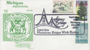 1994 Michigan - Mackinac Bridge Walk Michigan Gamm Pictorial