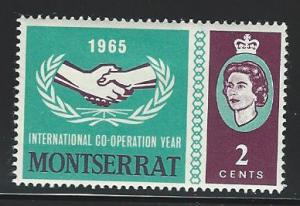 Montserrat  mint hinged SC  176