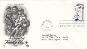 1984, In Support of Family Unity, Artcraft, FDC (D7071)