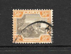 MALAY FEDERATED STATES  1900-01   50c  TIGER    FU   SG 22a