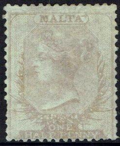 MALTA 1860 QV 1/2D NO WMK - NO GUM