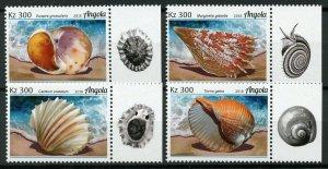Angola Seashells Stamps 2018 MNH Marine Molluscs Sea Shells 4v Set