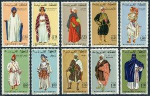 Morocco 198A-206,MNH.Michel 597/662. Regional Costumes 1968-1969.