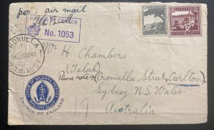 1940 Palestine League Of Soldiers Airmail Censored Cover To Sydney Australia