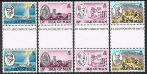 Isle of Man 246-249 gutter,MNH.Michel 242-245. King William's College-150.1983.