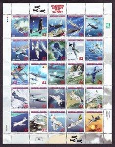 Marshall Islands #666 Legendary Aircraft of US Navy MNH sheet of 20