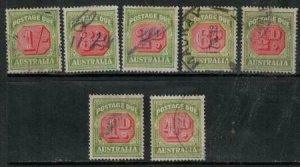 Australia 1938 SC J64-J70 Used Set