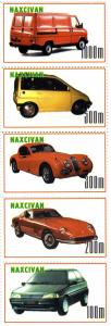 Naxcivan Republic 1997 Classic Cars Strip (5) Perforated mnh.vf