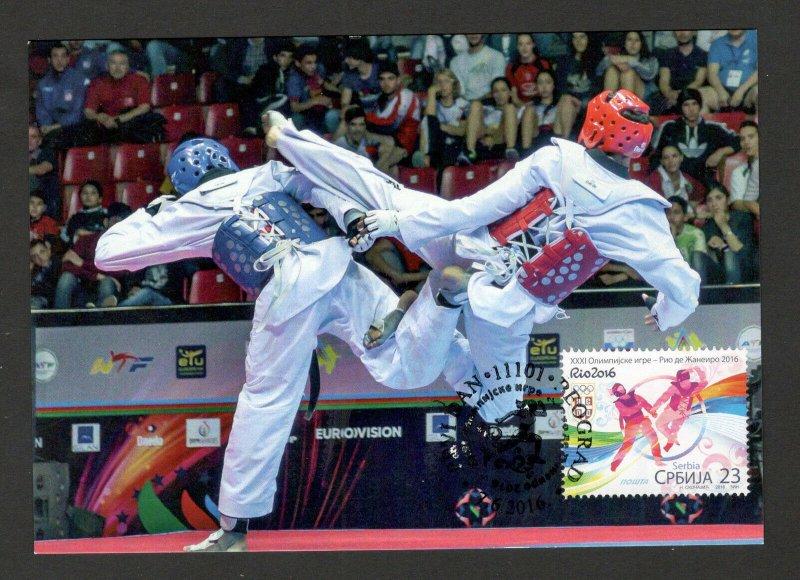 SERBIA- MC-MK-OLYMPICS , RIO , BRAZIL-TEKVONDO-2016.