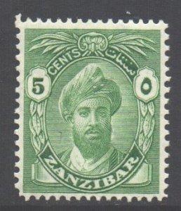 Zanzibar Scott 201 - SG310, 1936 Sultan 5c MNH**
