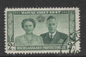 Bechuanaland - Scott 144 - KGVI - Royal Visit -1947 - Used - Single 2p Stamp