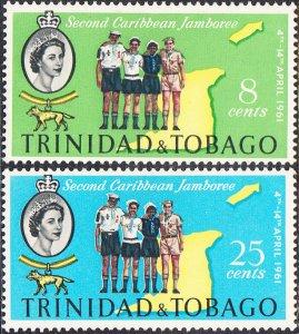 Trinidad & Tobago MNH 103-4 Boy Scouts & Map 1961