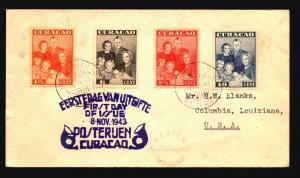Curacao 1943 Series First Day Cover / Censored - Z14964