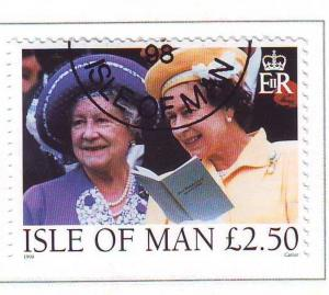 Isle of Man Sc 802 1998 Queen Mother & QE II stamp used