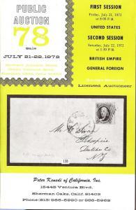 Kenedi: Sale # 78  -  United States, British Empire, Gene...
