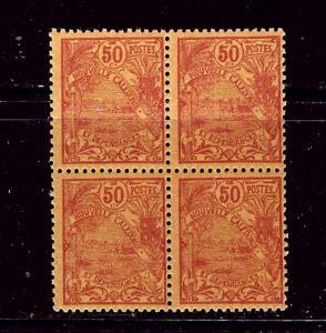 New Caledonia 106 MNH 1905 Block of 4