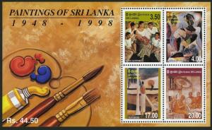 Sri Lanka 1273a sheet,MNH. Paintings by local artists.1999.