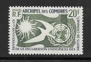 Comoro Is. 44 MNH cpl. issue. vf, 2020 CV $9.00