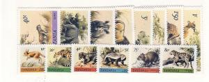 Tanzania, 161-74, Animals, Singles, MNH
