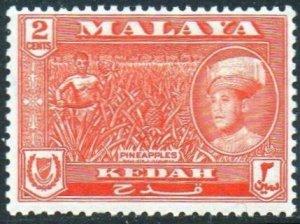 Kedah 1959 2c Pineapples MH