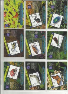 3351a-3351t  Twenty 33c Insects & Spiders Stampers Cards MNH