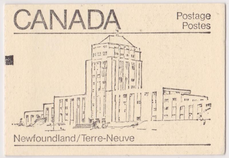 Canada - 1982 Maple Leaf Booklet Counter Newfoundland #BK82a Cat. $3,75