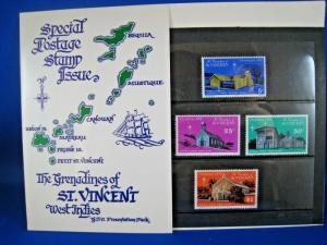 THE GRENADINES OF ST. VINCENT  -  SCOTT #69-72  PRESENTATION PACK   MNH   (gg)